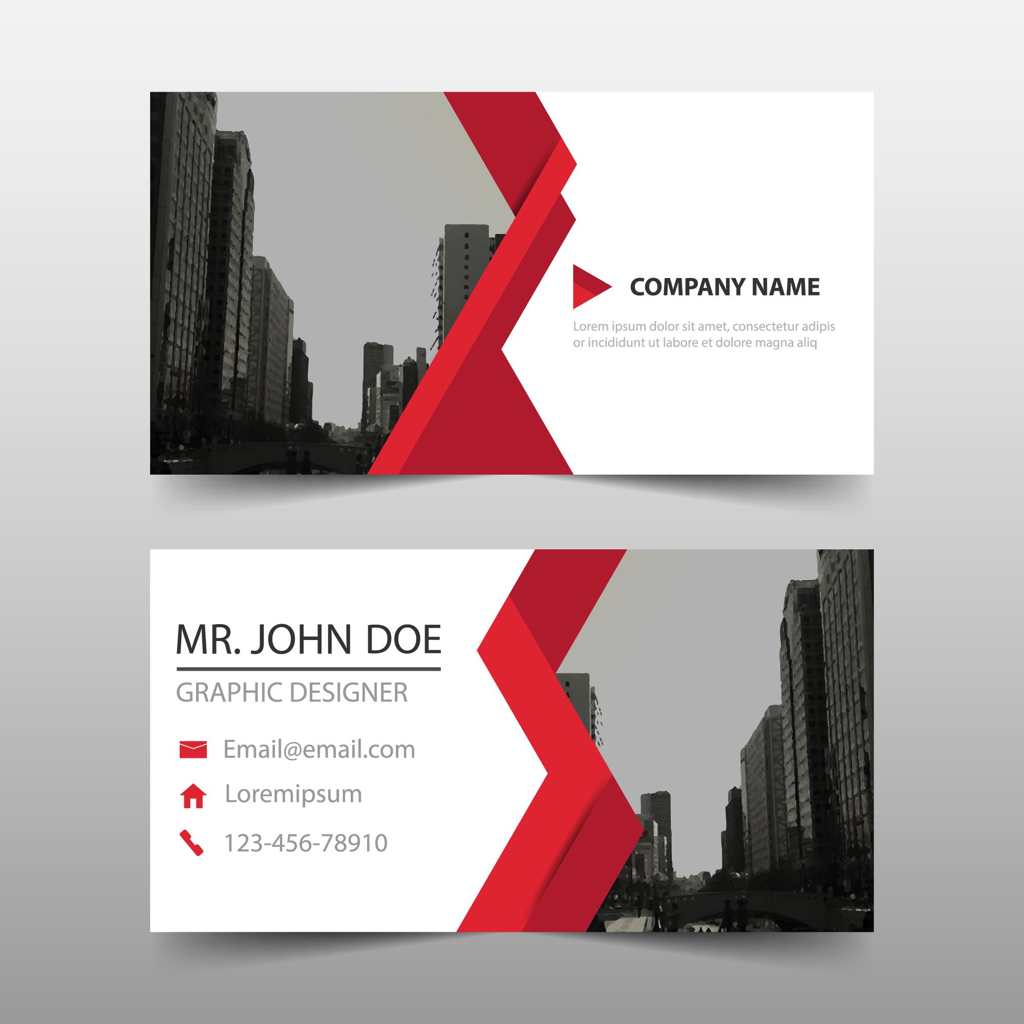 business card - modern