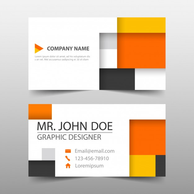 business card orange- sport